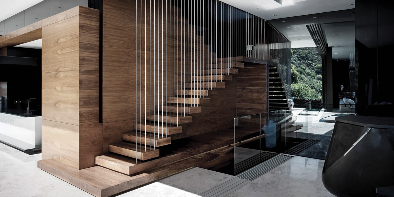 Cape Town Luxury Villa Floating Staircase