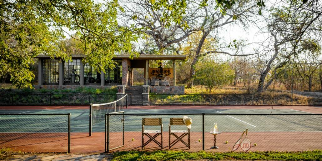 Tennis pavilion Singita Castleton