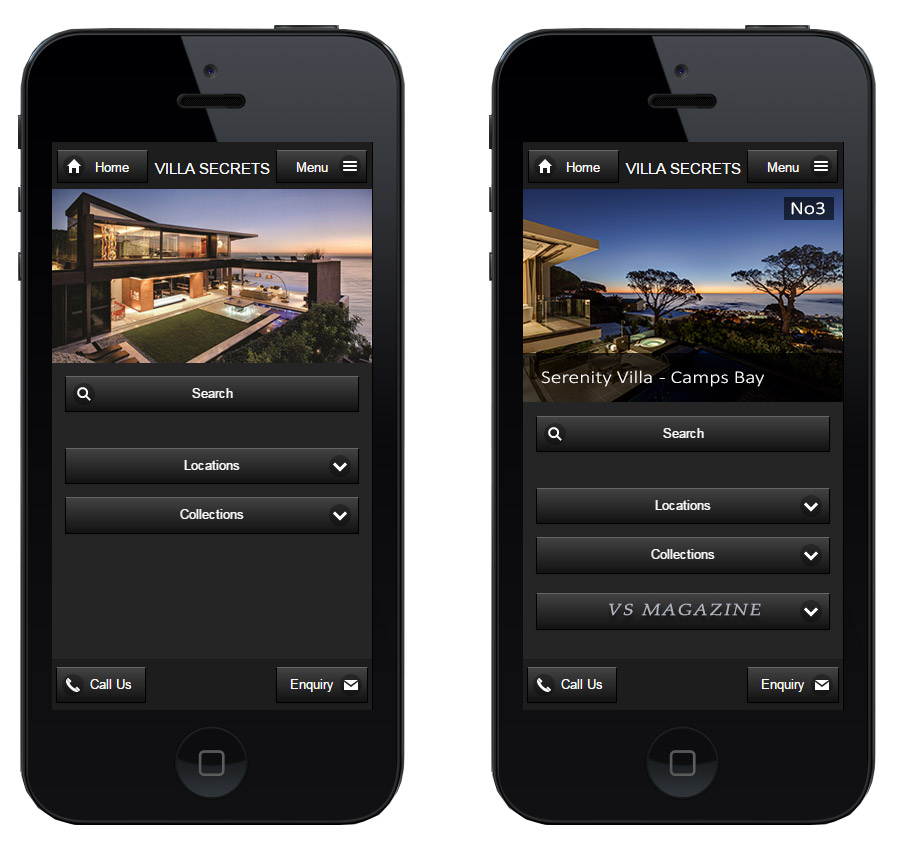 Villa-Secrets-JQuery-Mobile-Website---2-Homepages