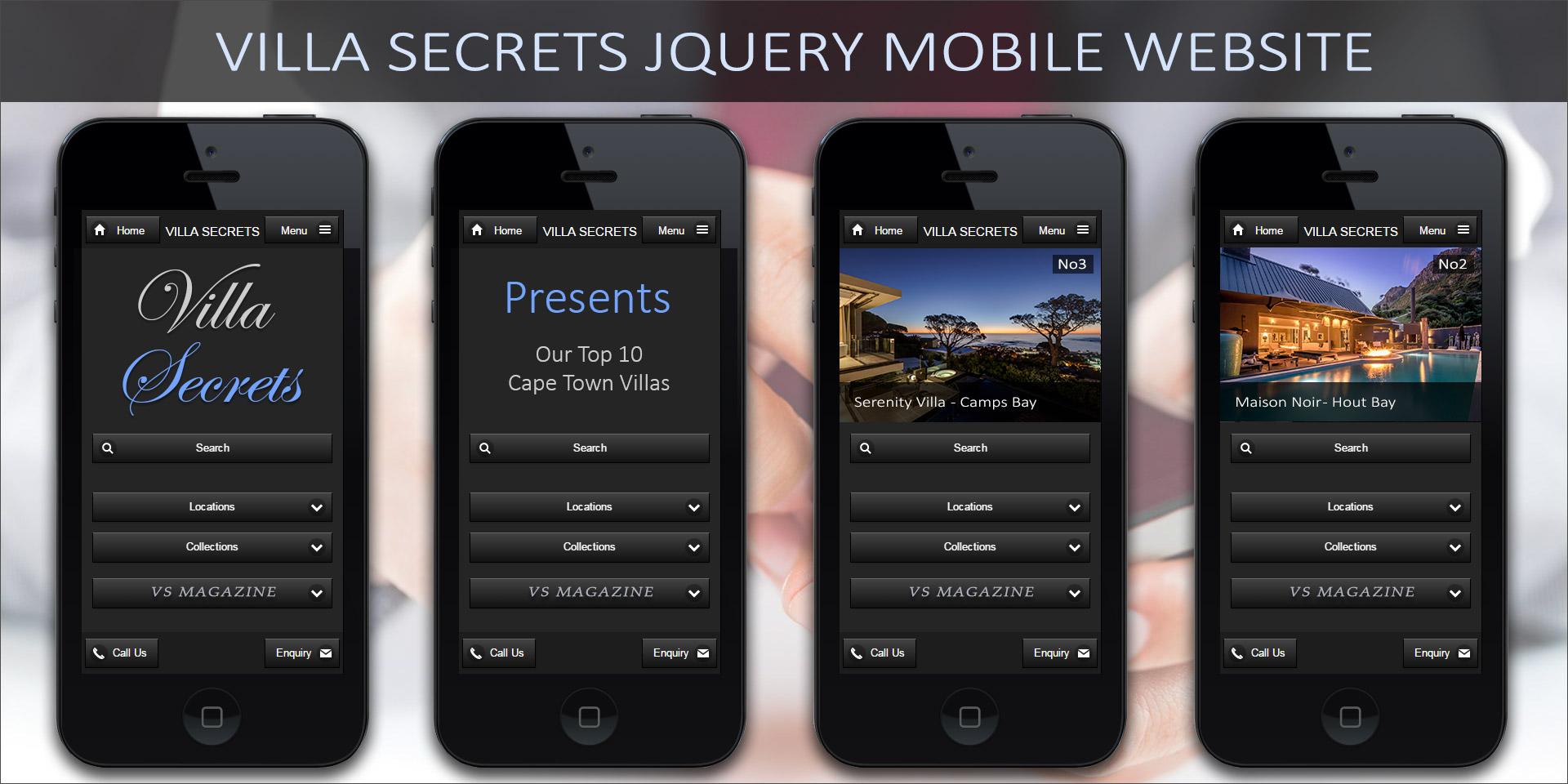 VS Mobile App – Dedicated JQuery Mobile Website - Cape Town