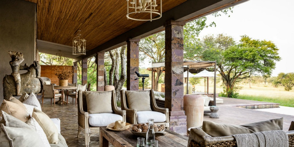 Singita Serengeti House outdoor lounge