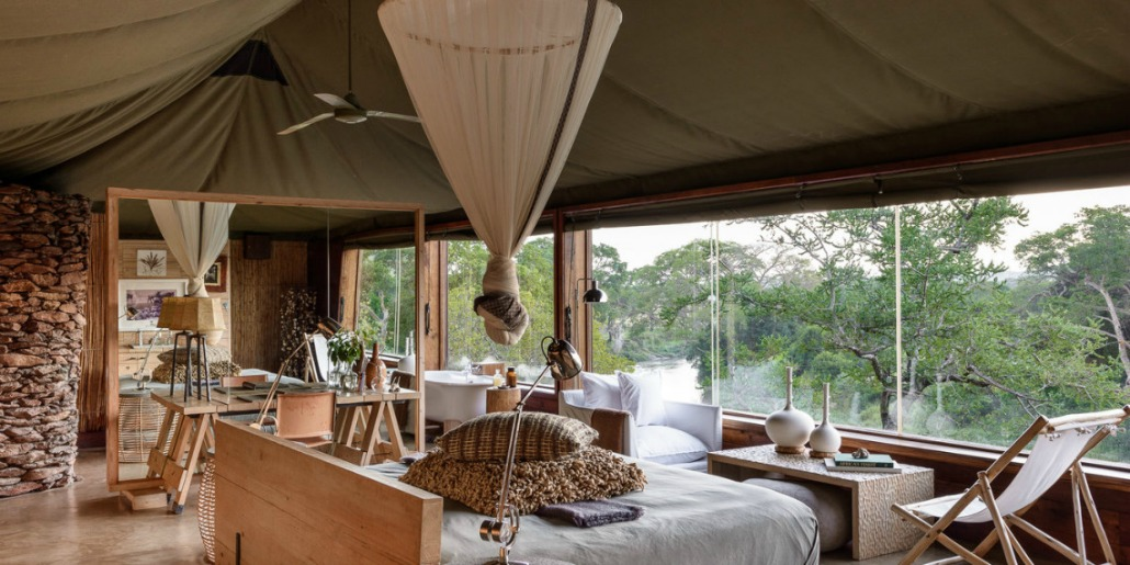 Singita Faru Faru bedroom.