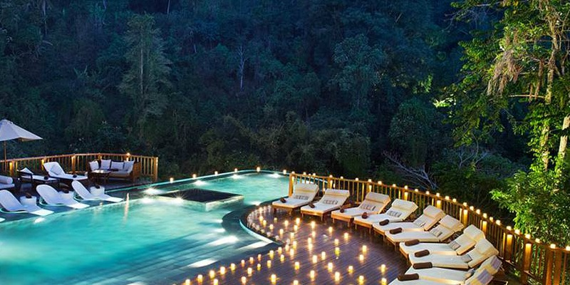 Poolside in the Forest in Bali