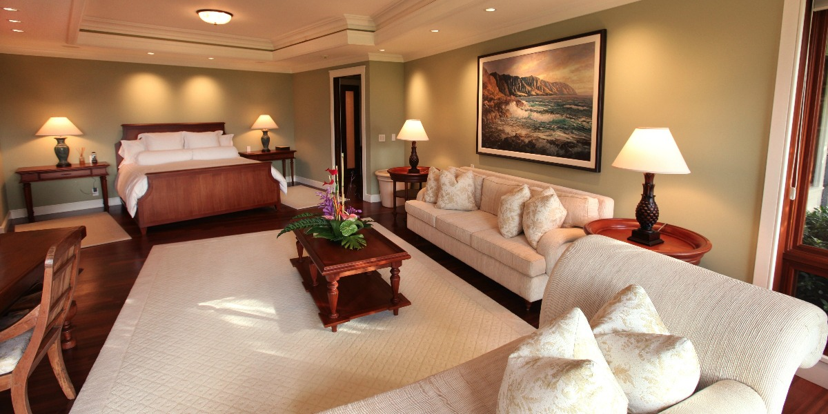 Luxurious Bedrooms at Oahu in Hawaii