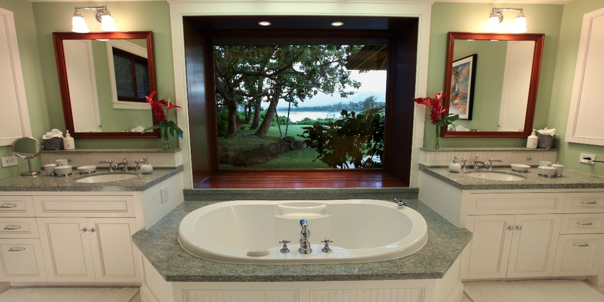 Luxurious Bathroom at Paradise Point Estates Oahu