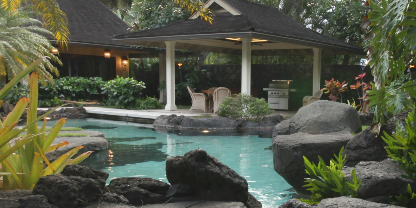 Spectacular Pool at Paradise Point Estates Hawaii