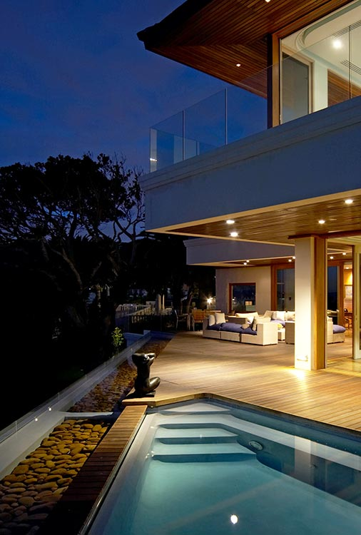 Villa-and-Swiming-Pool-at-night---Ellerman-Villa---Cape-Town-d