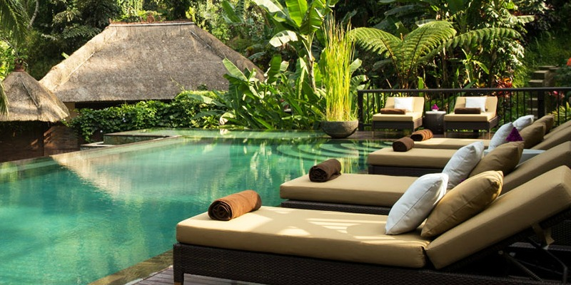 Poolside at Hanging Gardens of Bali