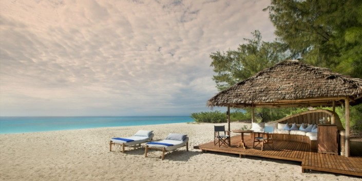 Sun Loungers By the Sea at Mnemba Island