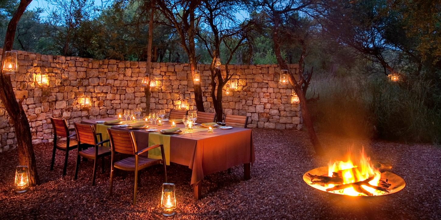 Traditional African Boma at the Safari Villa
