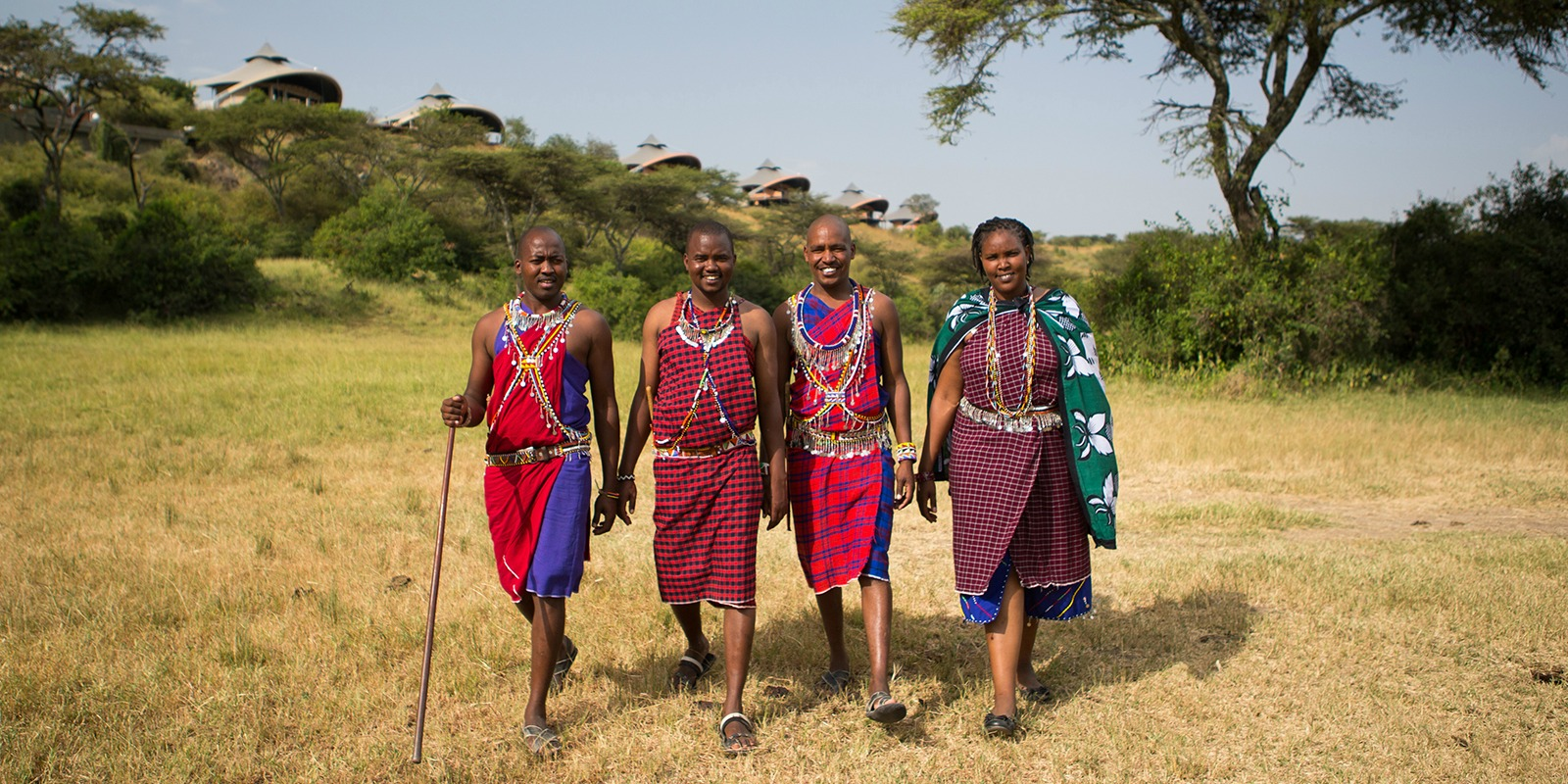 Maasai Team Members in the Campsite