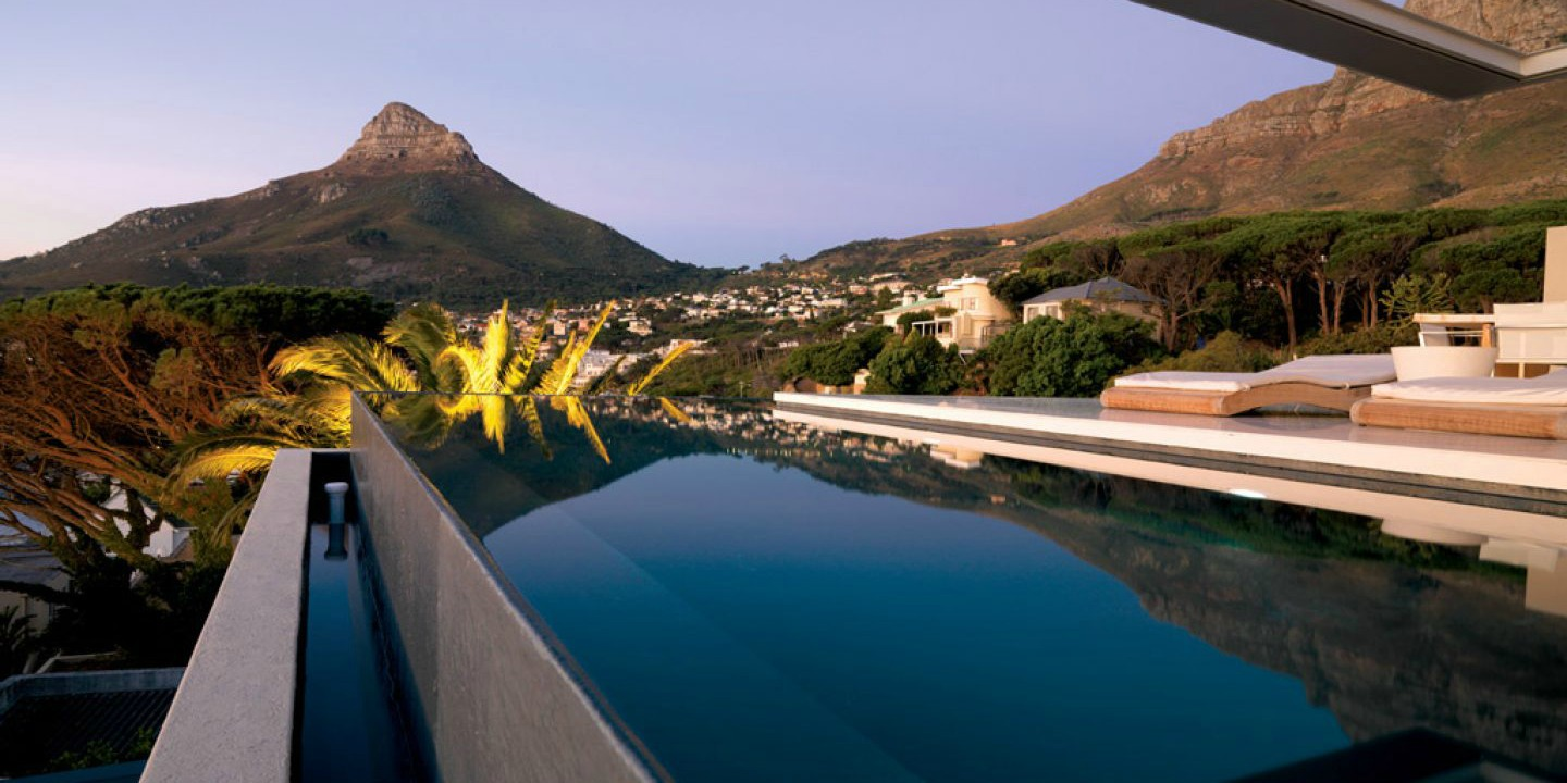 Lion's Head View at Bond House Infinity Pool