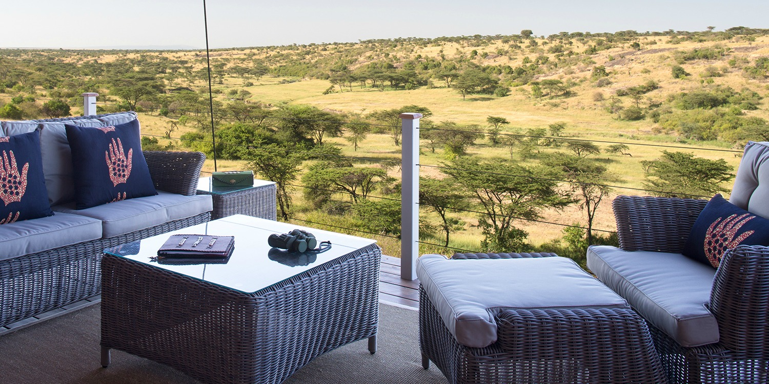 Luxury Safari Camp Deck View
