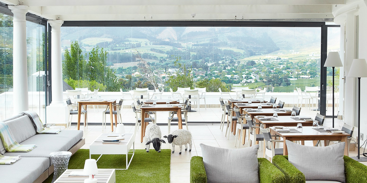 Mont Rochelle Miko Restaurant Terrace View