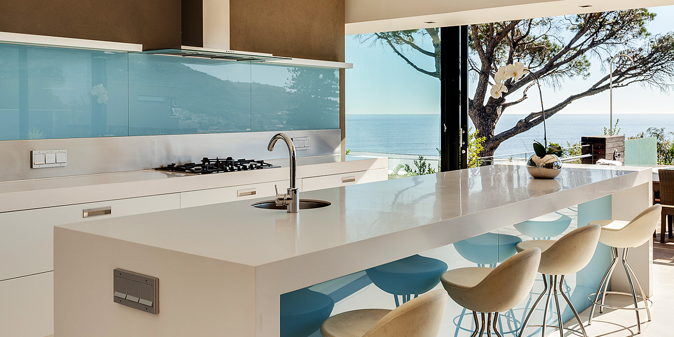 Serenity Villa Kitchen with Ocean View