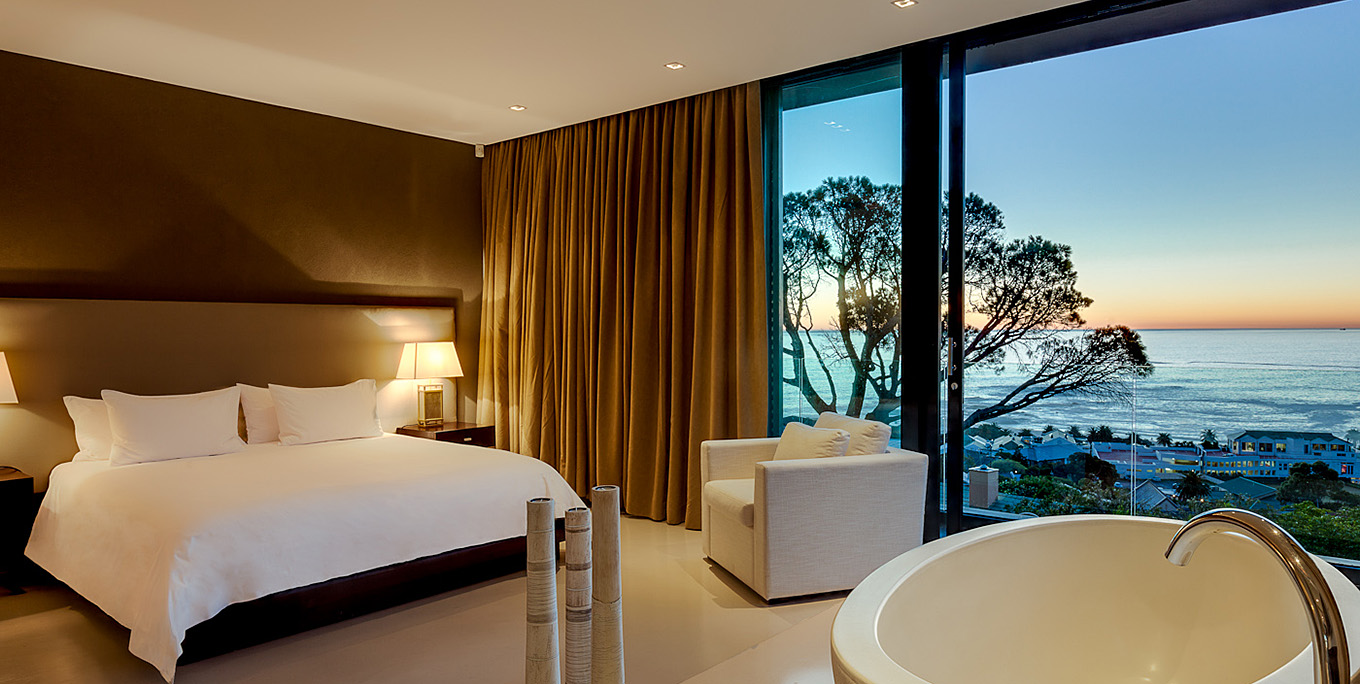 Elegant Bedroom in Camps Bay Villa