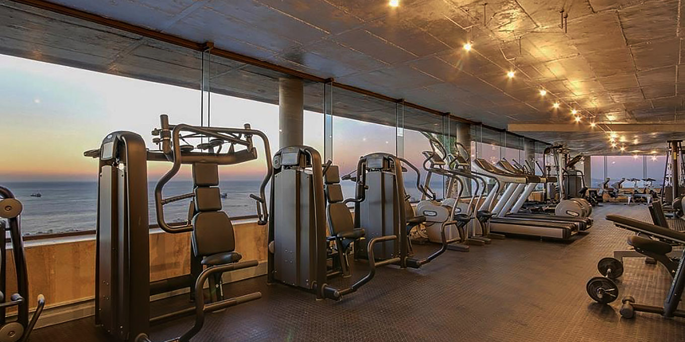 Moondance Private Gym with an Ocean View