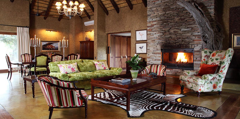 Camp Jabulani Zindoga Villa cosy lounge