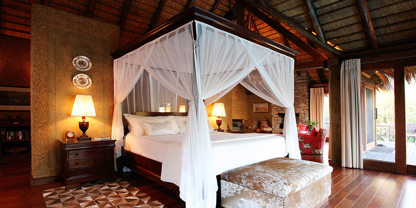 Camp Jabulani Zindoga Villa spacious bedroom suite